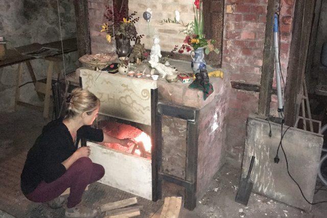 Levín - historická pec na výpal keramiky opět funguje