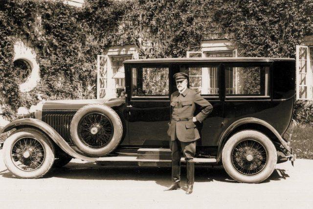 Prezident T. G. Masaryk  jezdil luxusní limuzínou ŠKODA - Hispano - Suiza