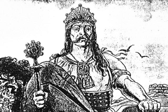 Kupec Sámo v představě Mikoláše Alše