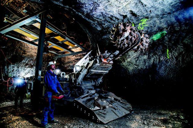 Horníci v solných dolech v Halštatu | foto: Andi Bruckner