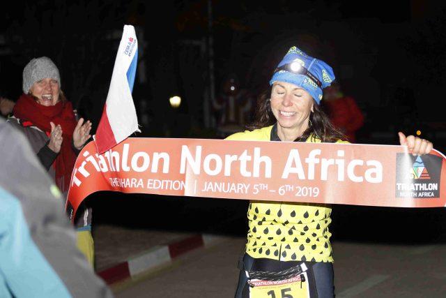 Alena Vrátná na Triathlonu North Africa | foto: Dana Martinková,  archiv Aleny Vrátné