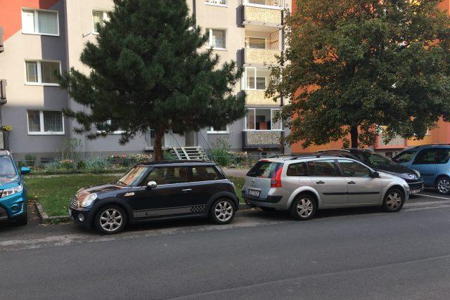 Parkování v Jirkově
