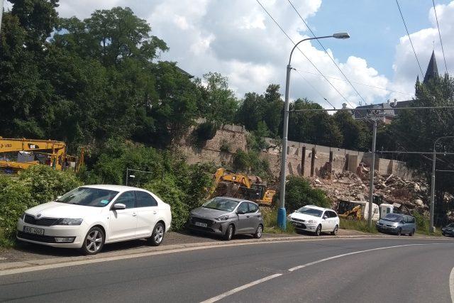 Ruina rozestavěné budovy z Mlýnské ulice v Teplicích už zmizela    foto: Gabriela Hauptvogelová,  Český rozhlas,  Český rozhlas