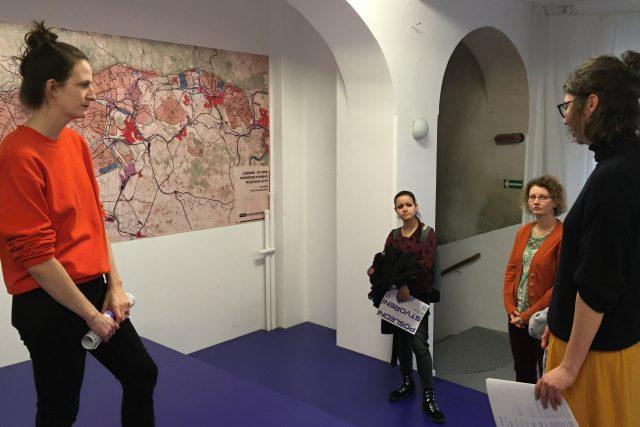 Součástí výstavy je i mapa s plánovanou těžbou v Severočeském hnědouhelném revíru