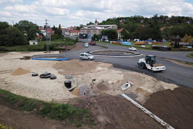 Výstavba městského obchvatu u Roudnice nad Labem   foto: Město Roudnice nad Labem