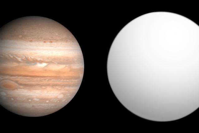Exoplaneta XO-5b (vpravo) je zřejmě jen o málo větší, než náš Jupiter