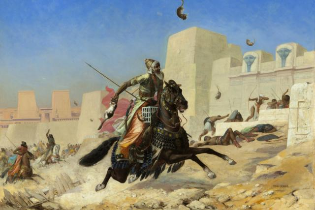 Paul-Marie Lenoir: Král Kambýsýs při obléhání města