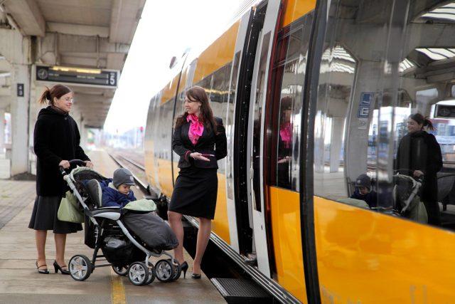 U vlaku RegioJet