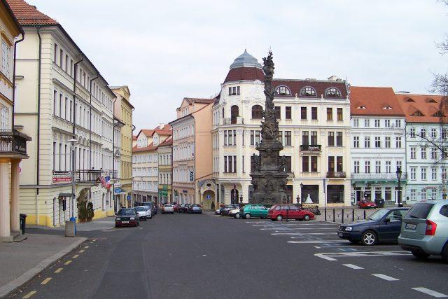 Teplice, morový sloup od Matyáše Bernarda Brauna na Zámeckém náměstí