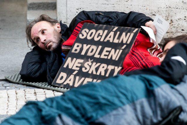 Protest proti zákonu o sociálním bydlení   foto: Michal Šula,  MAFRA / Profimedia