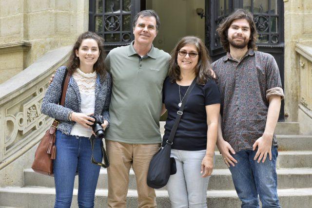 Rodina Wolfrumovy prapravnučky při návštěvě Ústí nad Labem