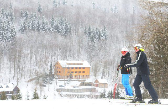 Zadní Telnice,  lyžování   foto: Iveta Lhotská,  MAFRA / Profimedia