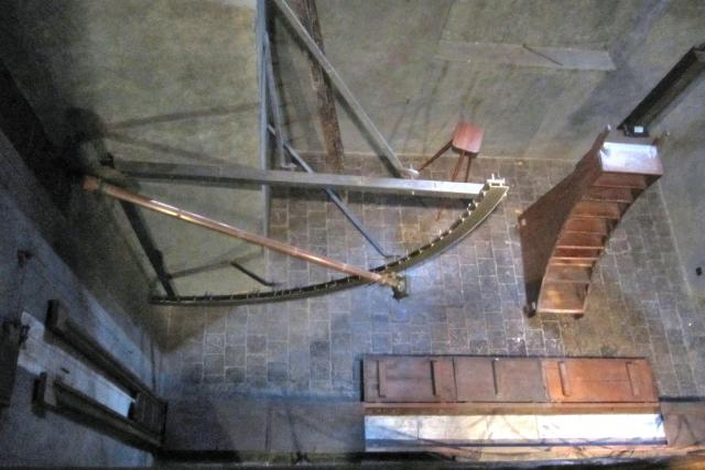 Tzv. Meridiánová síň v Astronomické věži pražského Klementina