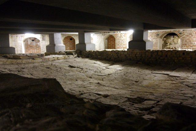 Archeologické terény pod III. nádvořím Pražského hradu   foto: Frederik Velinský,  Český rozhlas