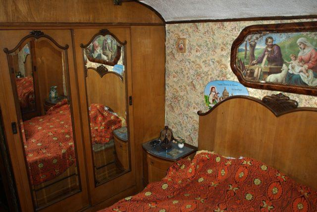 Maringotka Kludsky, interiér ložnice
