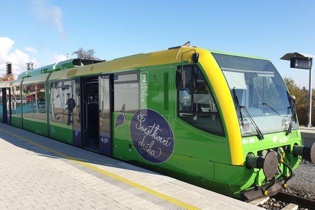 Slavnostní otevření modernizované trati mezi Lovosicemi a Louny v Čížkovicích