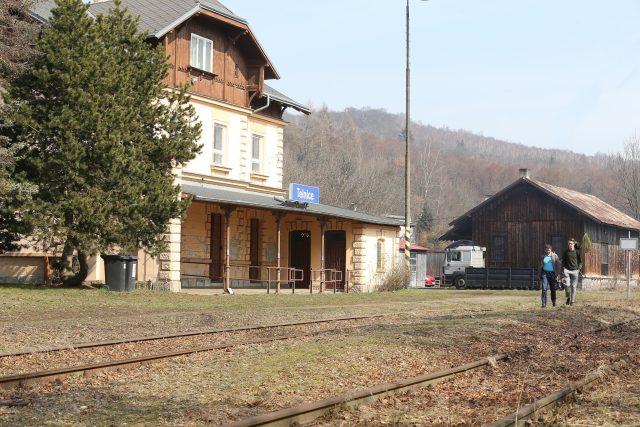 Kozí dráha - Telnice,  budova nádraží   foto: Iveta Lhotská,  MAFRA / Profimedia