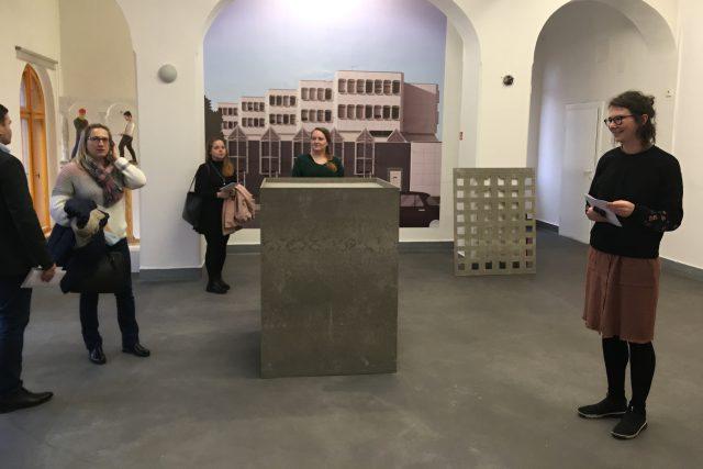 Jan Šrámek představuje digitální kresby centra Mostu a některých socialistických staveb