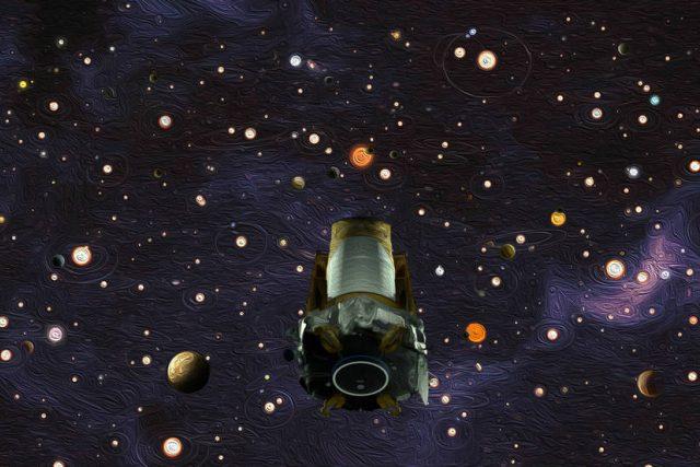 Teleskop Kepler po devíti letech vyčerpal zásoby paliva a mise tak byla ukončena. | foto: Wendy Stenzel/Daniel Rutter,  NASA